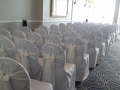 White chair covers with ivry sash at the Grand in Brighton