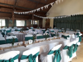 Forest green and white at Alciston Village Hall