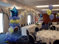 dusky blue and lemon balloons
