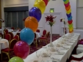 Rainbow coloured balloon arch