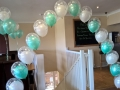 Double bubble balloon arch