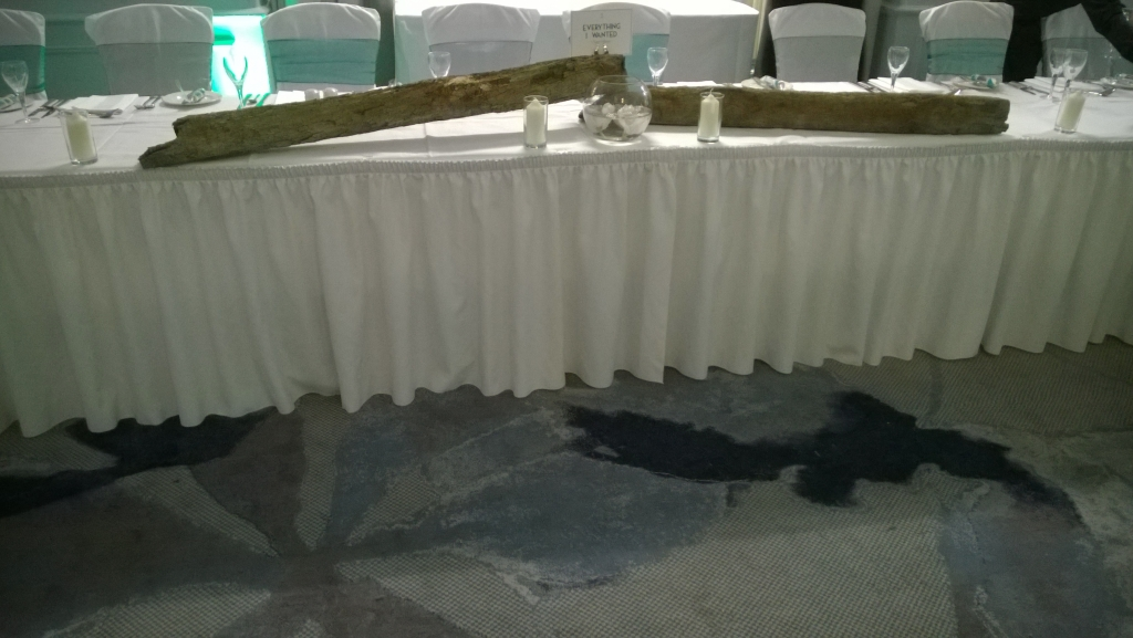 Driftwood top table decoration