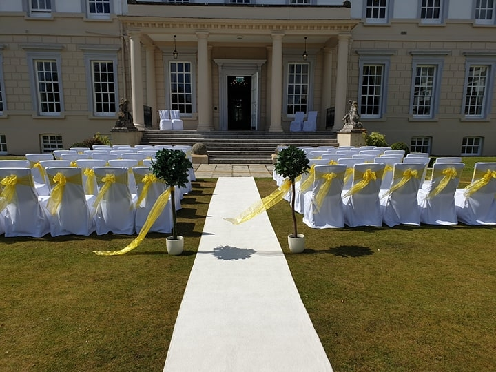 Yellow and white at Buxted Park Hotel