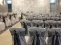 Chair covers with sash at the Hilton in Brighton