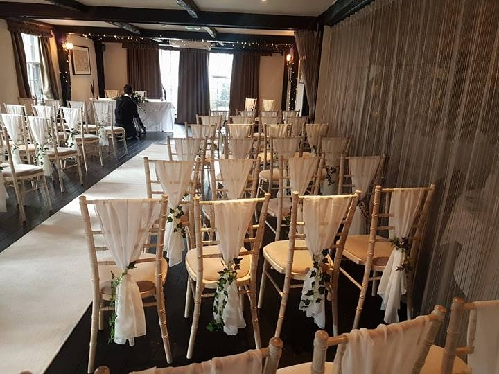 Wedding chairs at the Star Inn, Alfriston