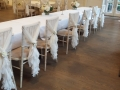 Chairs with ruffle hoods at One Warwick Park