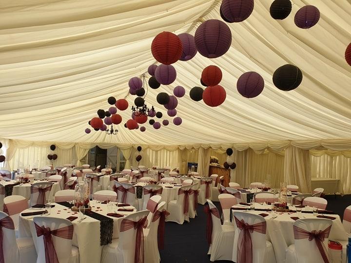 Coloured ceiling lanterns