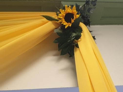 Yellow draping