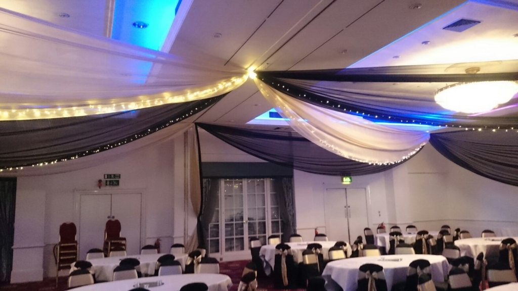 Black and Gold drapes at the Thistle hotel Brighton