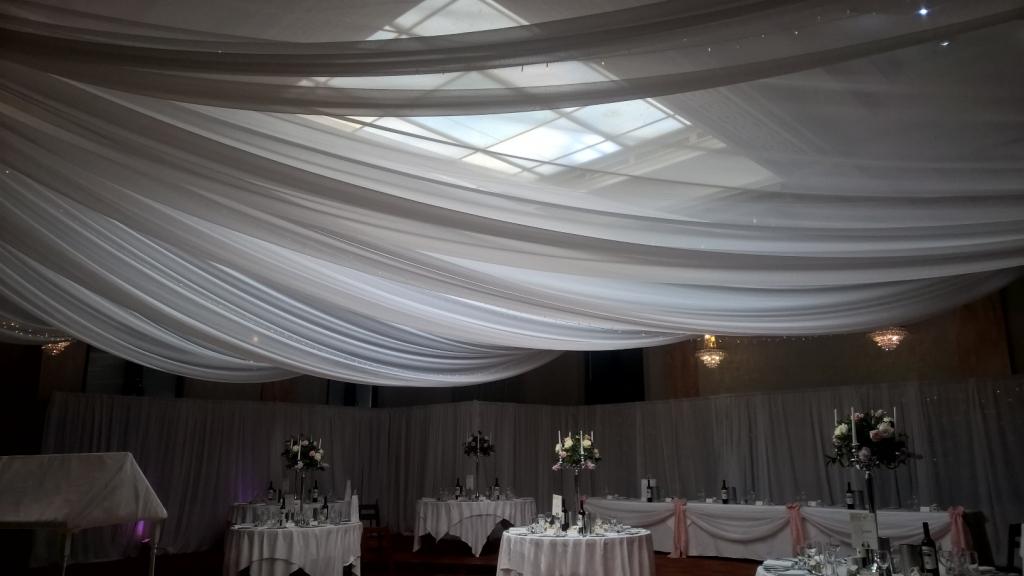 Ceiling drapes at Pelham house, Lewes