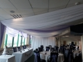 White and lilac drapes at Brighton Racecourse
