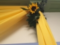 Yellow draping