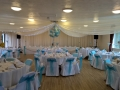 Ceiling drapes at Hollingbury golf club