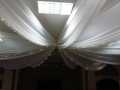 Ceiling drapes at the Powdermills