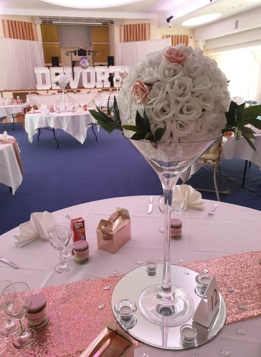 Rose Gold Sequin Table runners