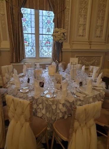 White Petal Table Cloth