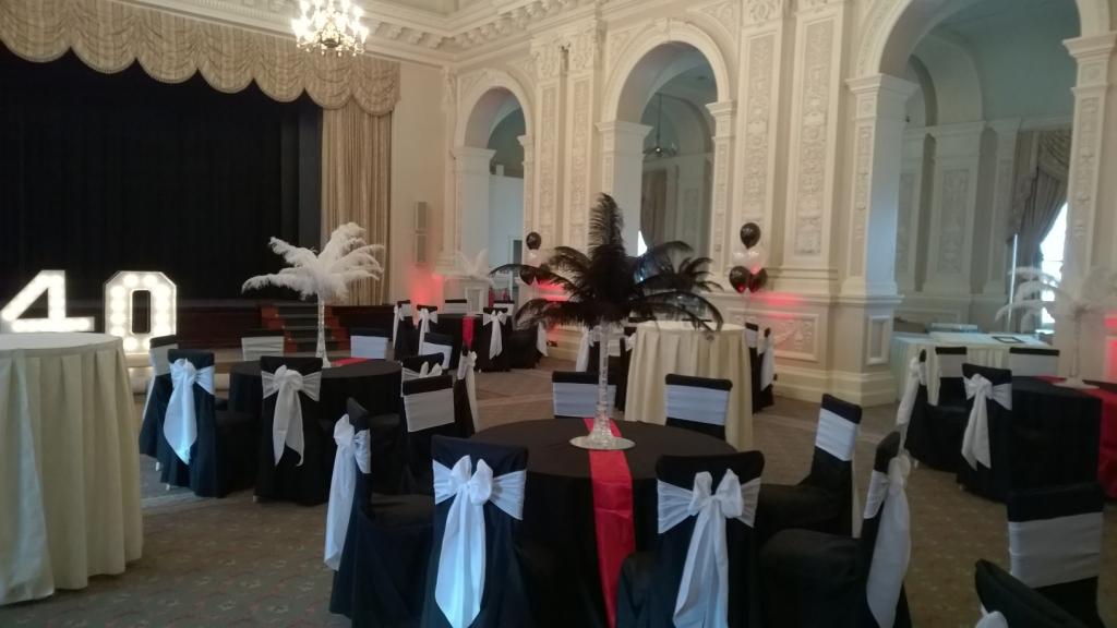 Black tablecloths