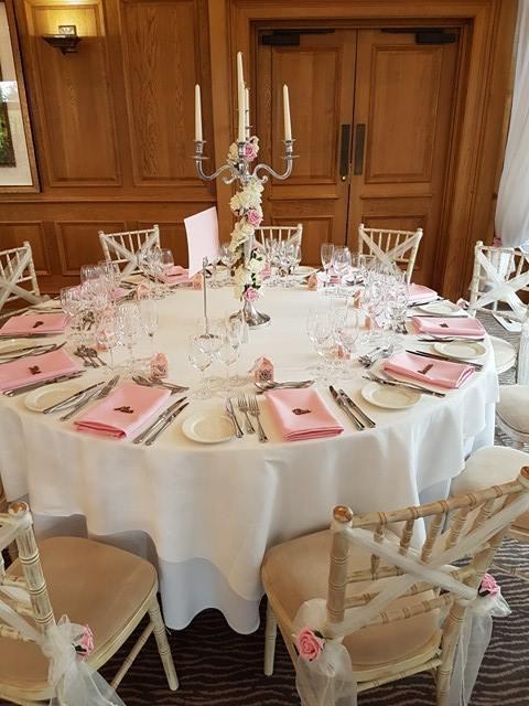 Pale pink napkins