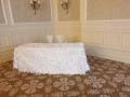 White Petal Table cloths