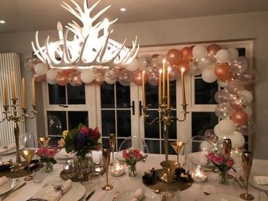 At Home Balloon Garland