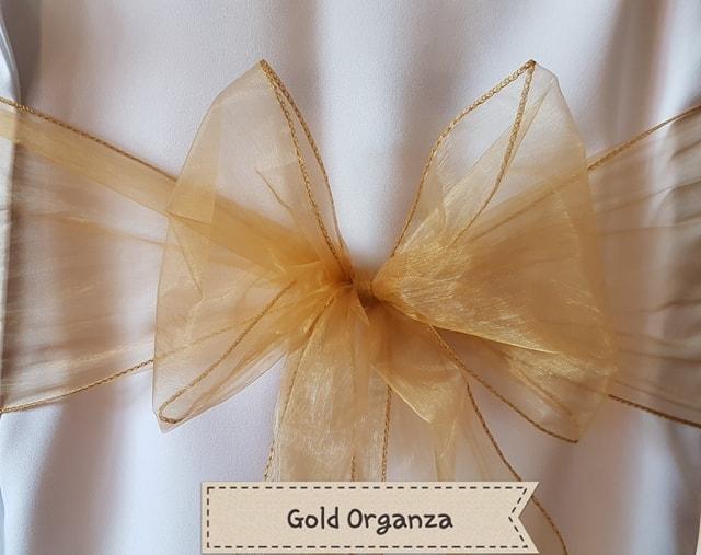 DARK GOLD ORGANZA