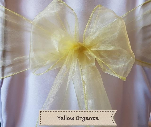 YELLOW ORGANZA