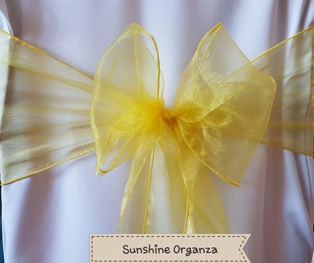 SUNSHINE YELLOW ORGANZA
