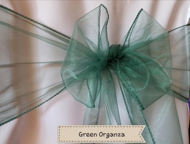 GREEN ORGANZA