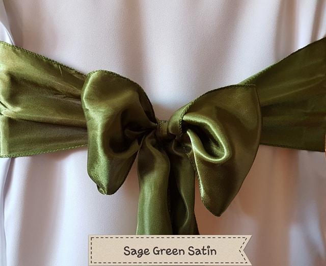 SAGE GREEN SATIN