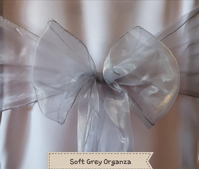 SOFT GREY ORGANZA
