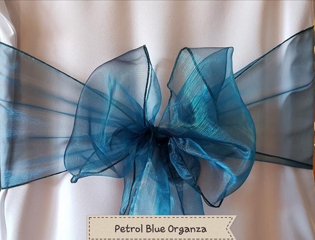 PETROL BLUE ORGANZA