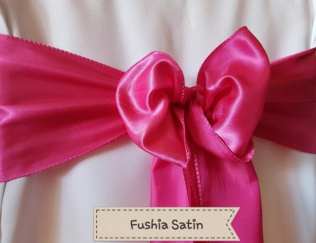 FUSHIA SATIN