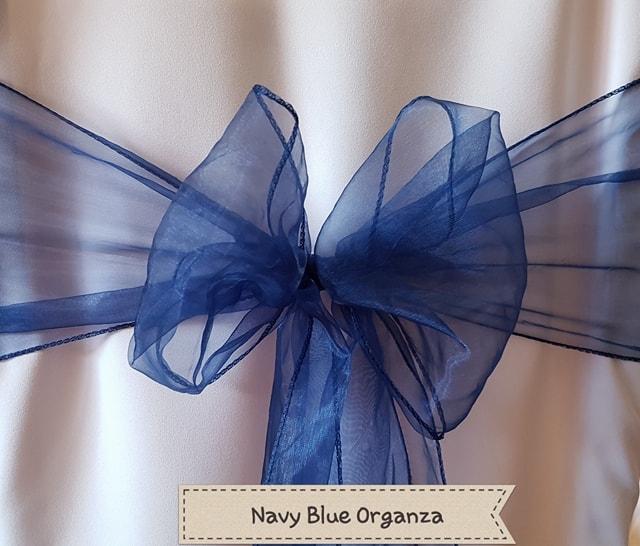 NAVY BLUE ORGANZA