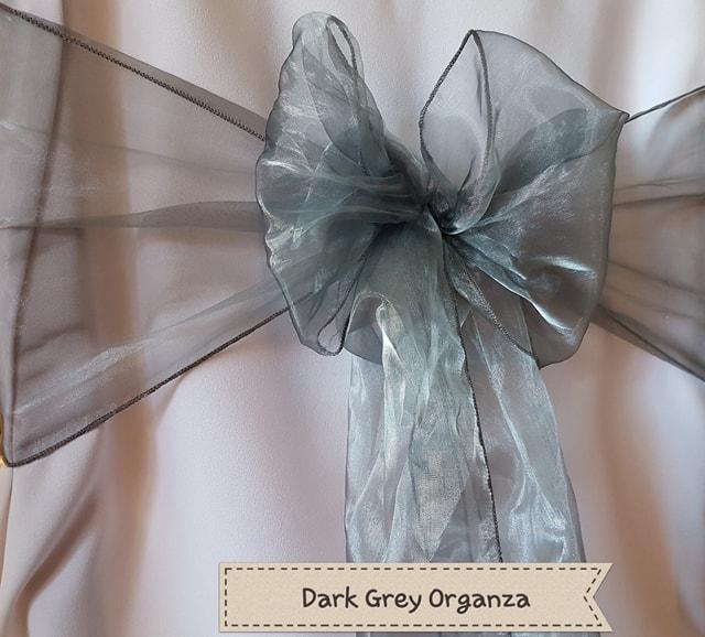 DARK GREY ORGANZA
