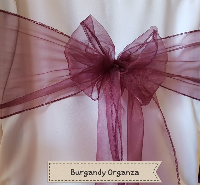 BURGANDY ORGANZA