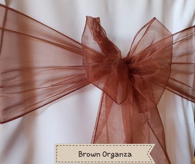 BROWN ORGANZA