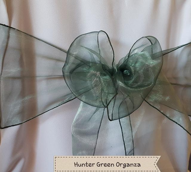 HUNTER GREEN ORGANZA