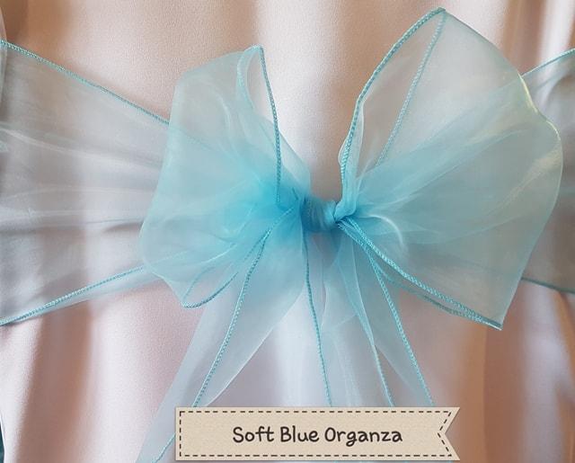 SOFT BLUE ORGANZA